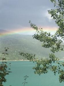 magnificent rainbow over Kinbasket Lake