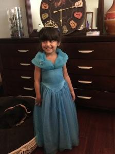 Nina as Cinderella for Halloween